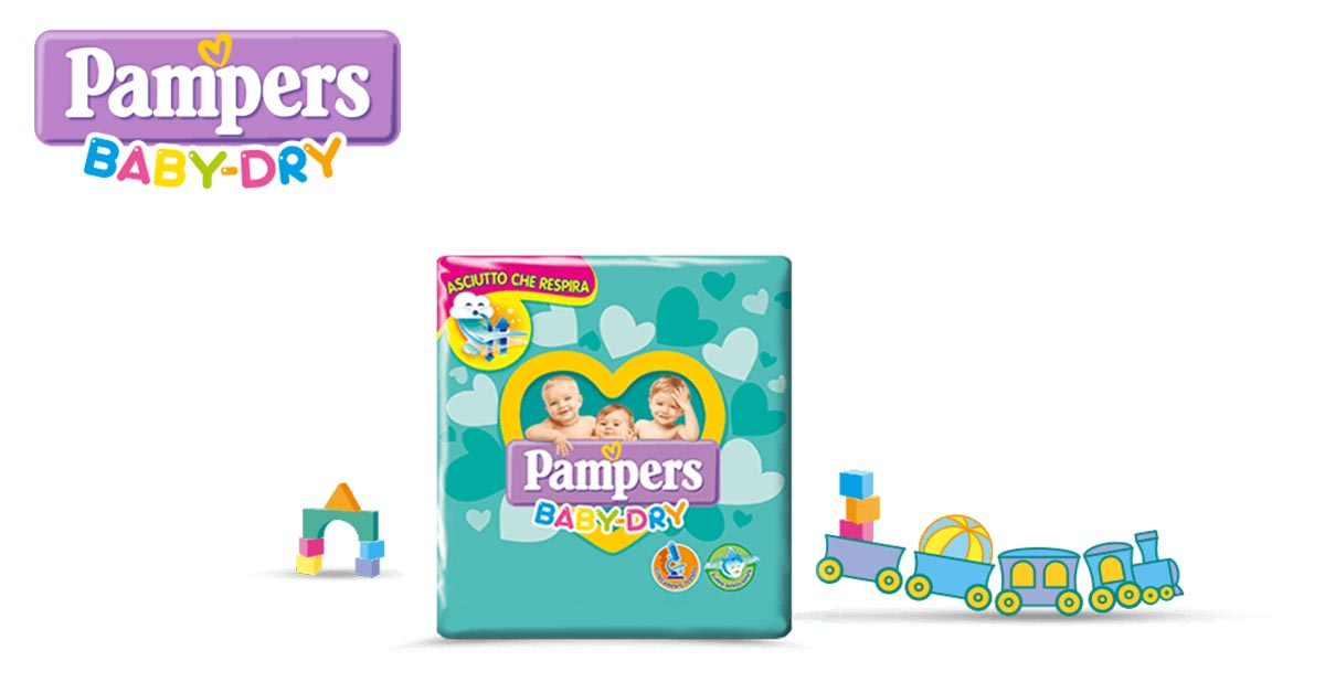 Offerta Pampers Baby-Dry dal 22 Luglio al 18 Agosto 2019!